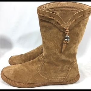 Ugg Suede Leather Moccasin Boots